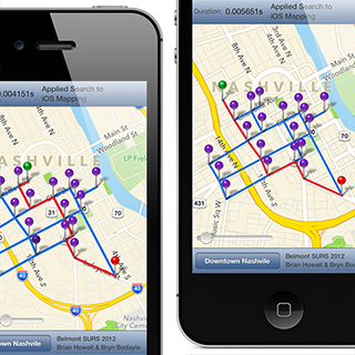 Astar Search Algorithm Applied to iOS mapping