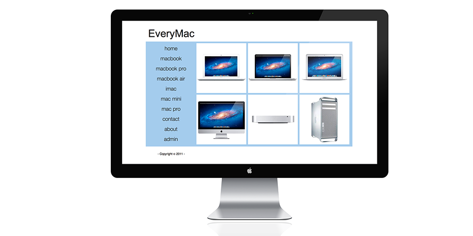 Minimalist EveryMac Website Redesign
